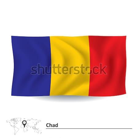 Vlag Roemenië ontwerp kunst teken Blauw Stockfoto © ojal