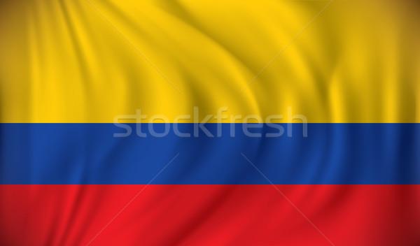Vlag Colombia achtergrond teken Blauw reizen Stockfoto © ojal