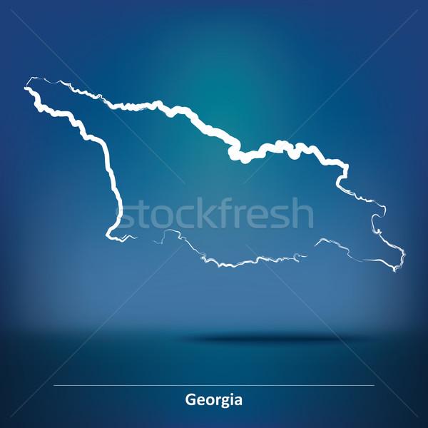 Doodle Map of Georgia Stock photo © ojal