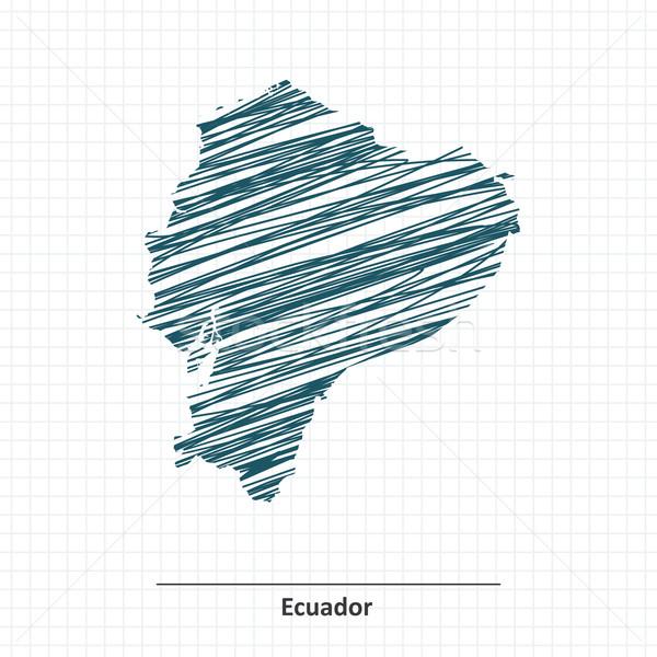 いたずら書き スケッチ エクアドル 地図 テクスチャ 背景 ストックフォト © ojal