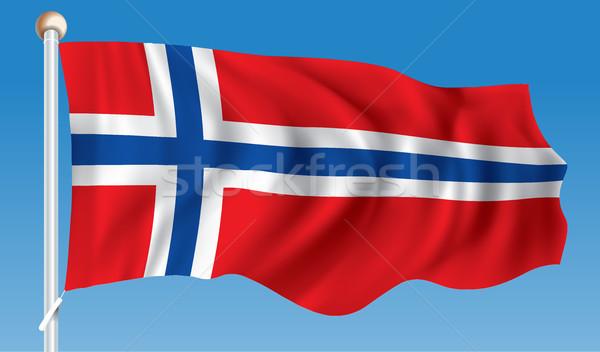 Flag of Svalbard Stock photo © ojal