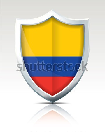 Shield with Flag of Colombia Stock photo © ojal