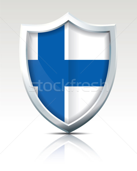 Shield with Flag of Finland Stock photo © ojal