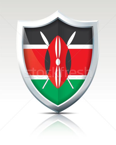 Schild vlag Kenia textuur wereld reizen Stockfoto © ojal