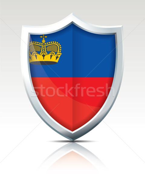 Сток-фото: щит · флаг · Лихтенштейн · текстуры · карта · дизайна