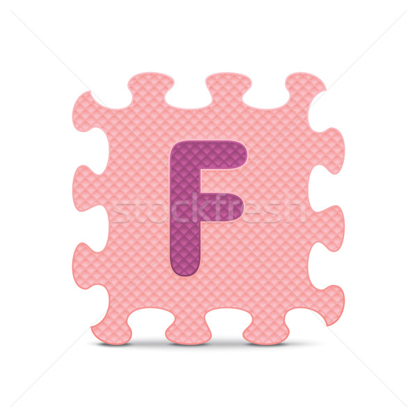 Vector letter 'F' written with alphabet puzzle Stock photo © ojal