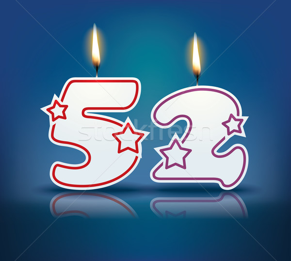 Birthday candle number 52 Stock photo © ojal