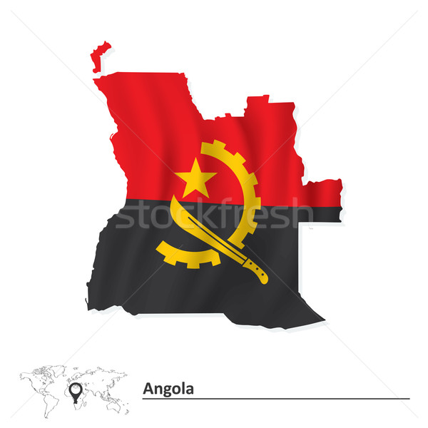 Map of Angola with flag Stock photo © ojal