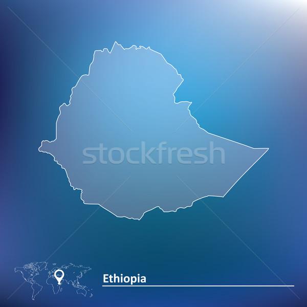Pokaż Etiopia streszczenie sztuki banderą star Zdjęcia stock © ojal