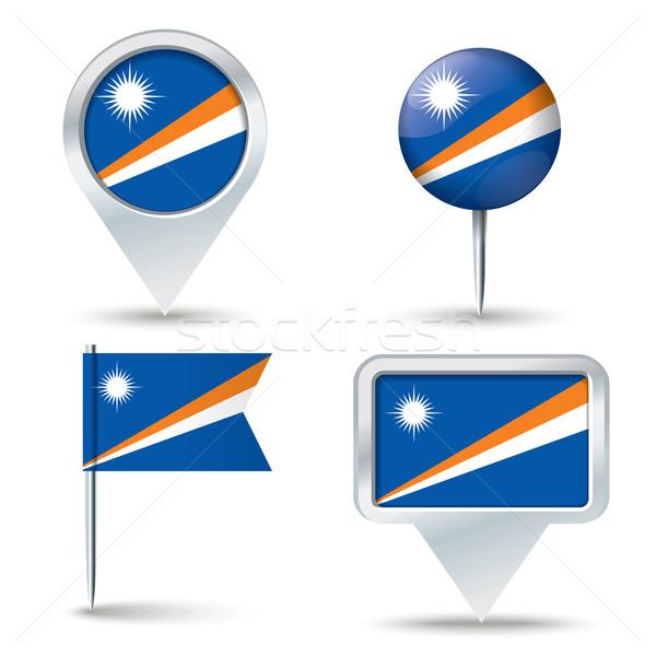 карта флаг бизнеса дороги белый Сток-фото © ojal
