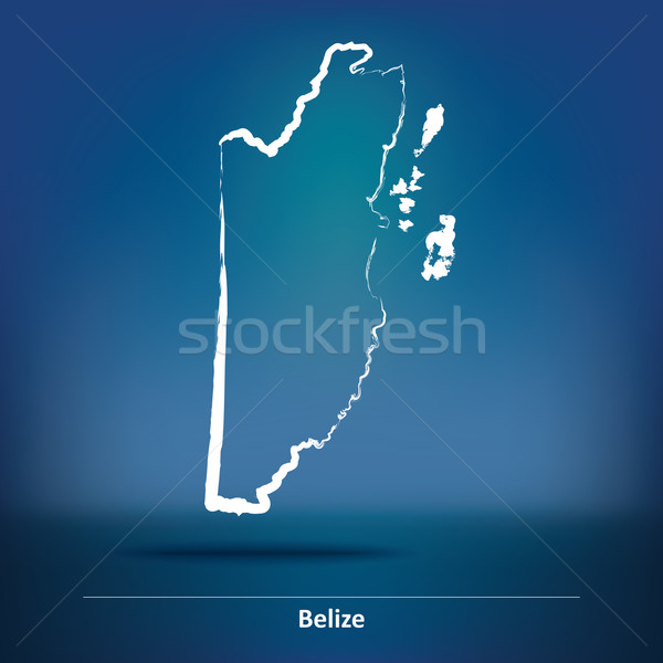 Doodle Map of Belize Stock photo © ojal