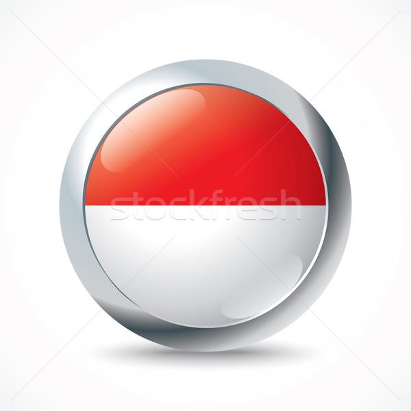 Endonezya bayrak düğme siluet grafik Asya Stok fotoğraf © ojal