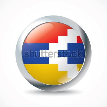Nagorno-Karabakh Republic flag button Stock photo © ojal