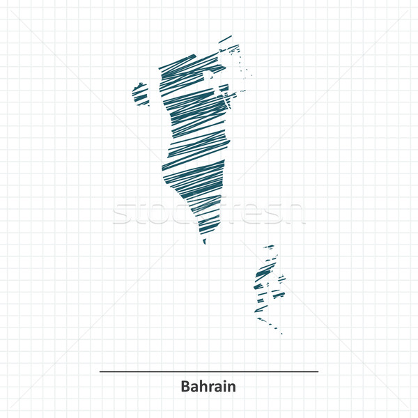 Doodle sketch of Bahrain map Stock photo © ojal