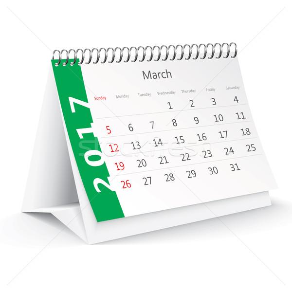 March 2017 desk calendar - vector Stock photo © ojal