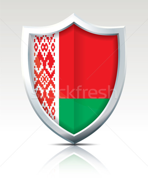 Shield with Flag of Belarus Stock photo © ojal