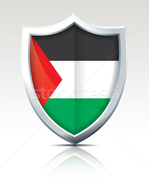 Shield with Flag of Gaza Strip Stock photo © ojal