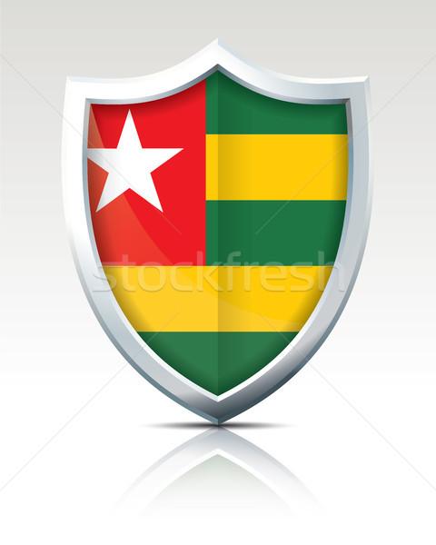 Schild vlag Togo textuur wereld groene Stockfoto © ojal