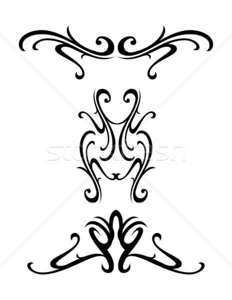 Tribal ontwerp vector communie bloem Stockfoto © ojal