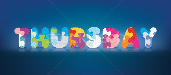 Vector THURSDAY written with alphabet puzzle Stock photo © ojal