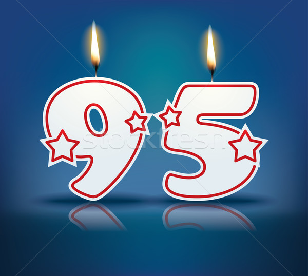 Birthday candle number 95 Stock photo © ojal