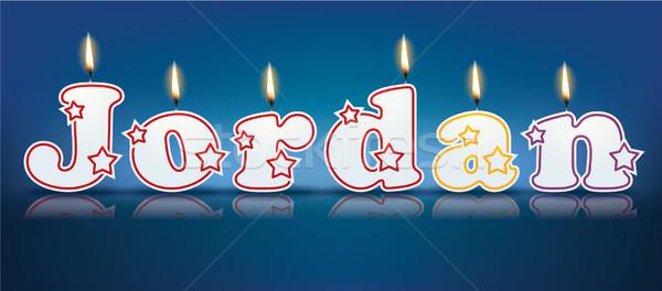 JORDAN written with burning candles Stock photo © ojal