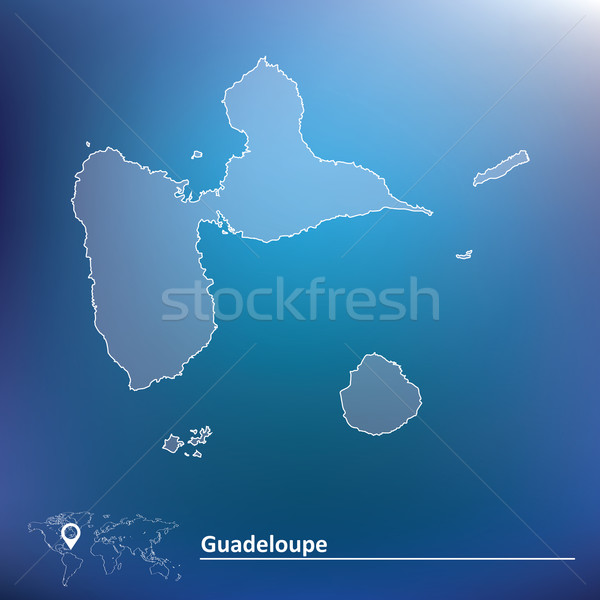 Map of Guadeloupe Stock photo © ojal