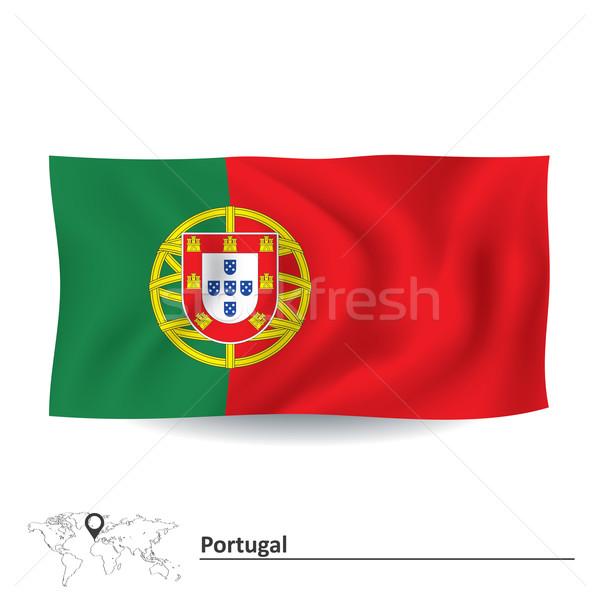 флаг Португалия карта знак путешествия красный Сток-фото © ojal