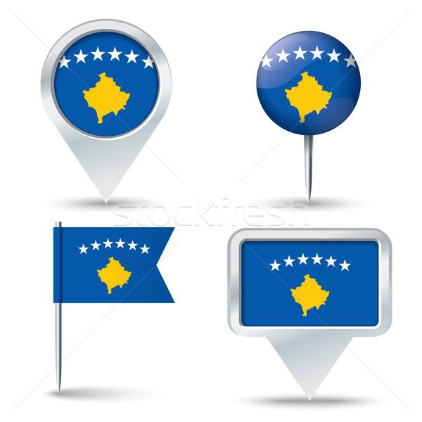 Mapa bandeira Kosovo negócio estrada mundo Foto stock © ojal