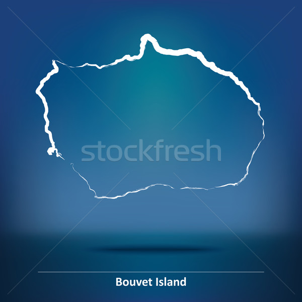Doodle Map of Bouvet Island Stock photo © ojal