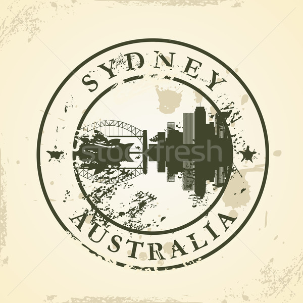 Grunge rubber stamp with Sydney, Australia Stock photo © ojal