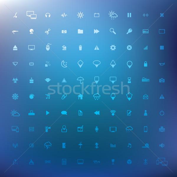 100 populaire icônes web eps 10 musique Photo stock © ojal