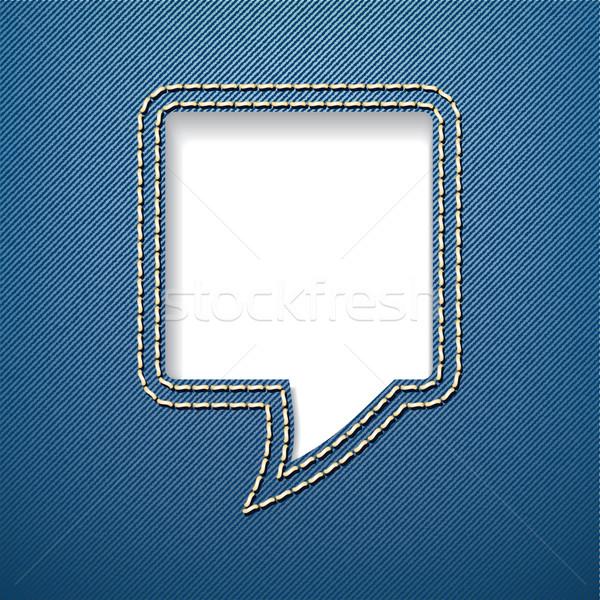 Stockfoto: Tekstballon · jeans · business · mode · abstract · achtergrond