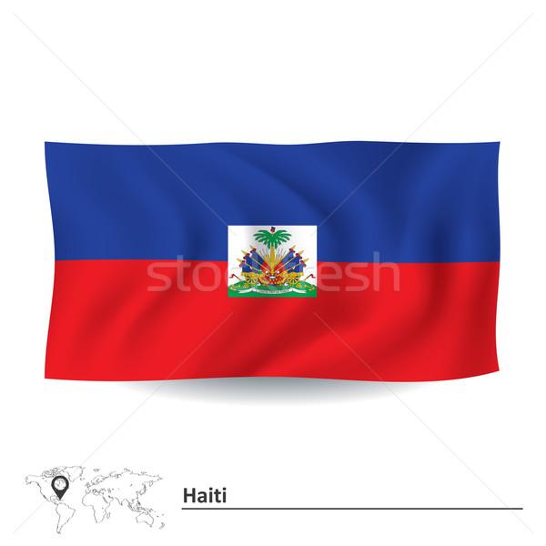 フラグ ハイチ デザイン 背景 旅行 シルエット ストックフォト © ojal