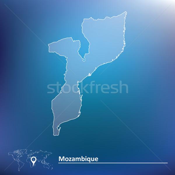 Pokaż Mozambik tekstury projektu podpisania pistolet Zdjęcia stock © ojal