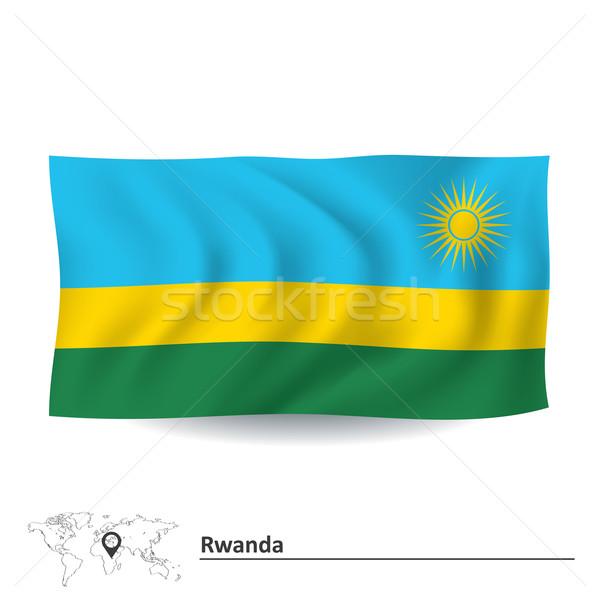 Flag of Rwanda Stock photo © ojal