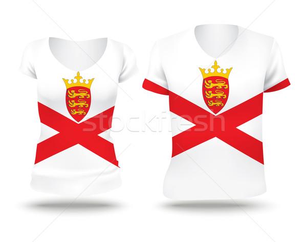 Flag shirt design of Jersey Stock photo © ojal