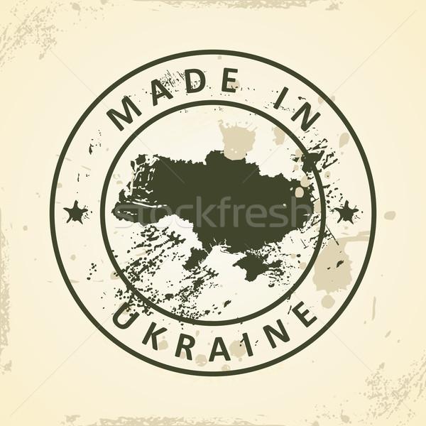 Stempel kaart Oekraïne grunge ontwerp wereld Stockfoto © ojal
