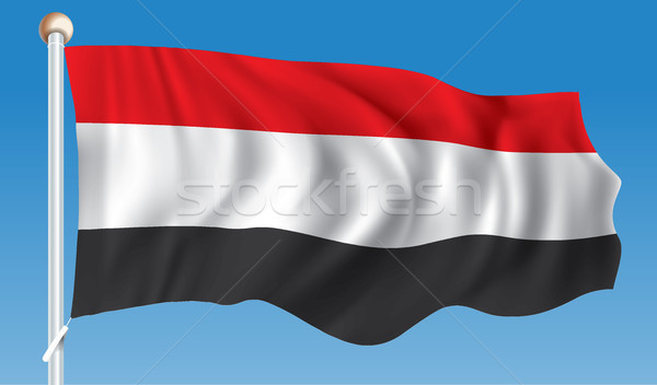 Bandeira Iémen textura projeto assinar viajar Foto stock © ojal