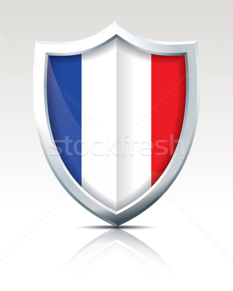 Shield with Flag of France Stock photo © ojal