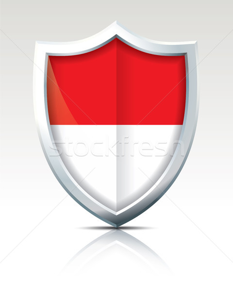 Shield with Flag of Indonesia Stock photo © ojal
