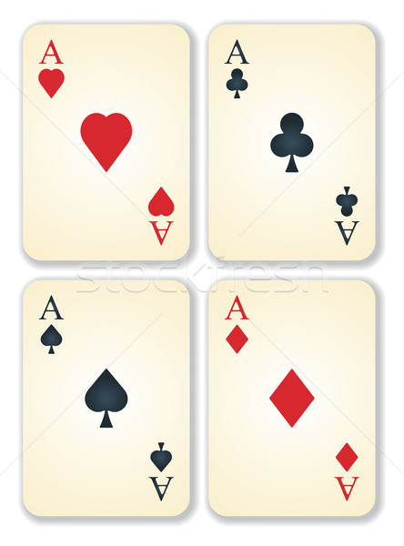 vector version of old vintage aces cards Stock photo © ojal