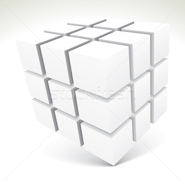 3D white cubes Stock photo © ojal