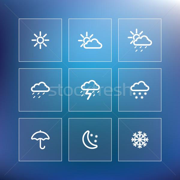 Hava durumu gökyüzü ışık dizayn gece Stok fotoğraf © ojal