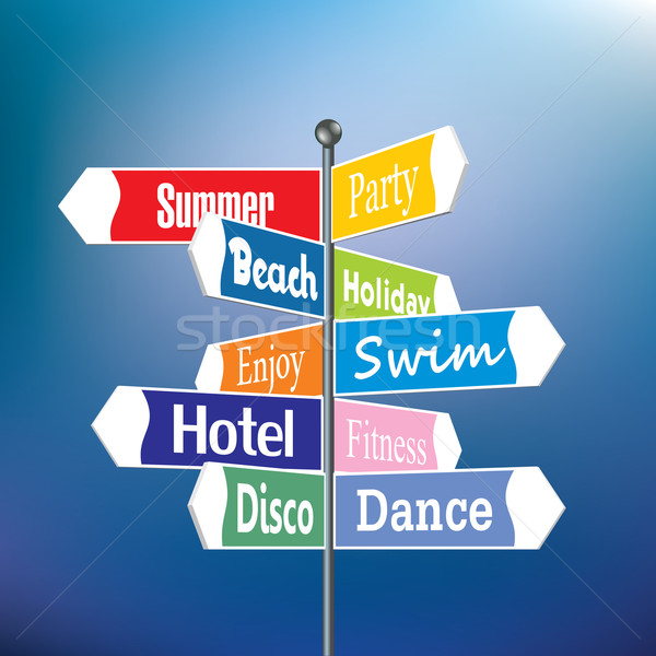 Summer holiday signpost Stock photo © ojal