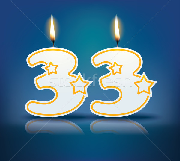 Birthday candle number 33 Stock photo © ojal