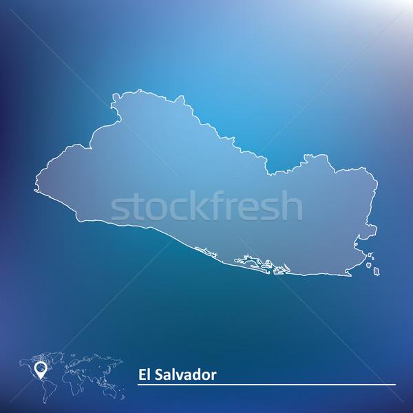Map of El Salvador Stock photo © ojal