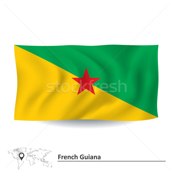 Flag of French Guiana Stock photo © ojal