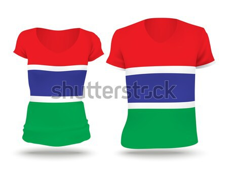 Stock photo: Flag shirt design of Gambia