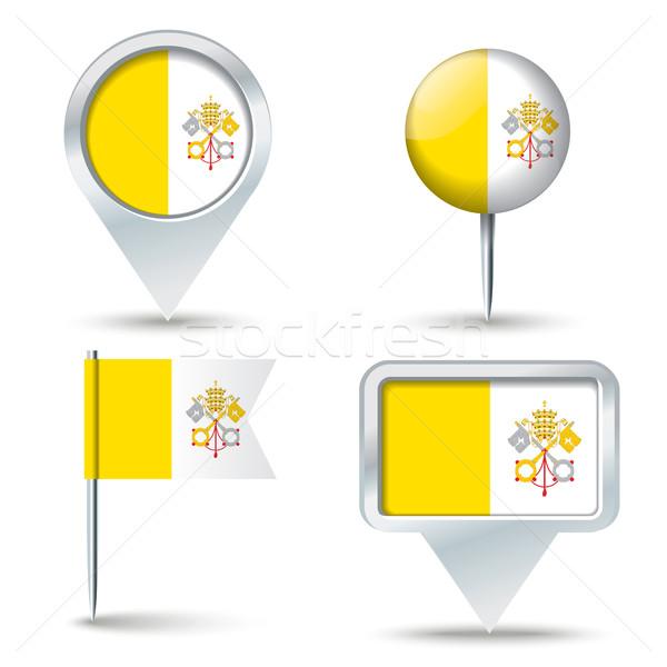 карта флаг святой см. Ватикан бизнеса Сток-фото © ojal